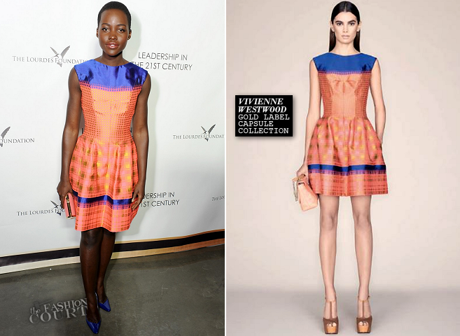 "Lupita Nyong'o in Vivienne Westwood Gold Label | The Lourdes Foundation ""Leadership in the 21st Century"" Event"