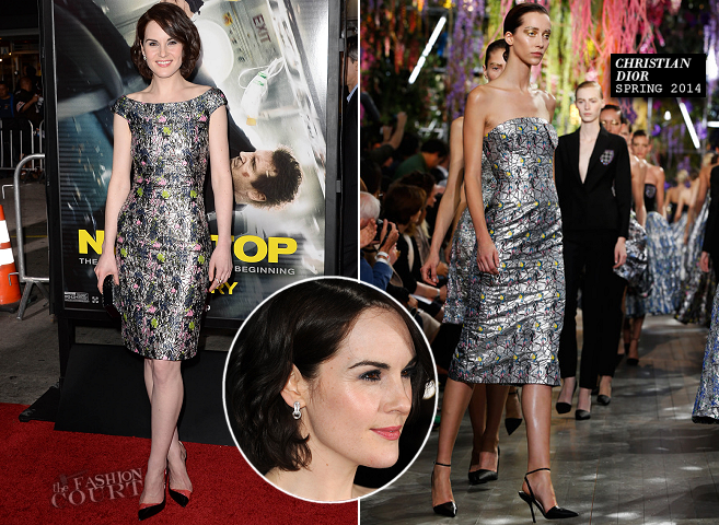 Michelle Dockery in Christian Dior | 'Non-Stop' Hollywood Premiere