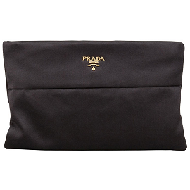 Prada Raso Satin Clutch Bag