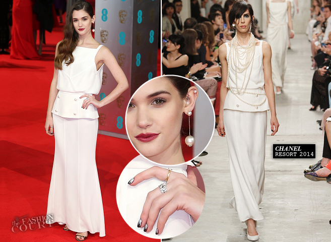 Sai Bennett in Chanel | 2014 BAFTAs