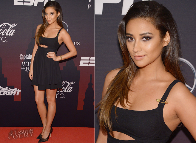 Shay Mitchell in Versace | 2014 ESPN The Party