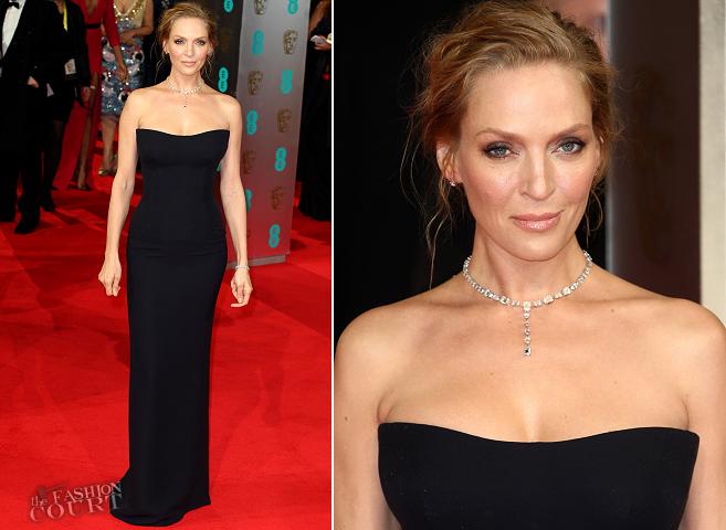 Uma Thurman in Atelier Versace | 2014 BAFTAs