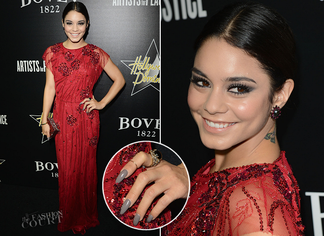 Vanessa Hudgens in Jenny Packham | 2014 Hollywood Domino Gala