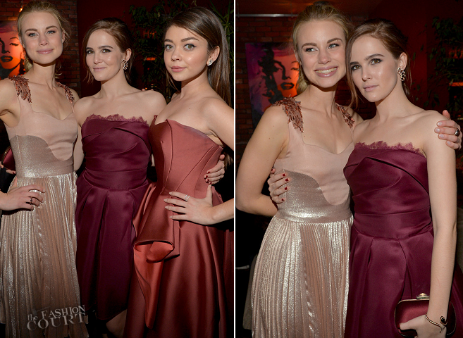 Zoey Deutch in Marchesa | 'Vampire Academy' LA Premiere
