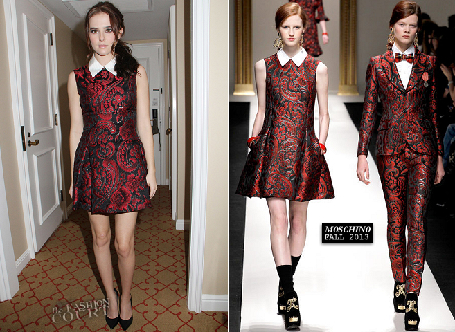 Zoey Deutch in Moschino | 'Vampire Academy' LA Press Day