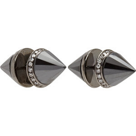 Ana Khouri Diamond & Hematite 'Alice' Earrings