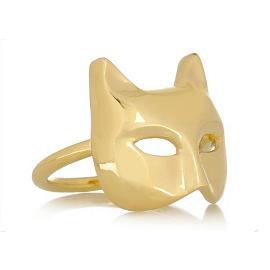 Anita Ko Cat Mask Ring
