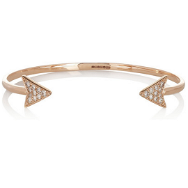 Anita Ko Arrow 18 Karat Rose Gold Diamond Bracelet
