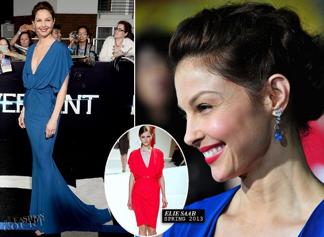 Ashley Judd in Elie Saab | 'Divergent' LA Premiere