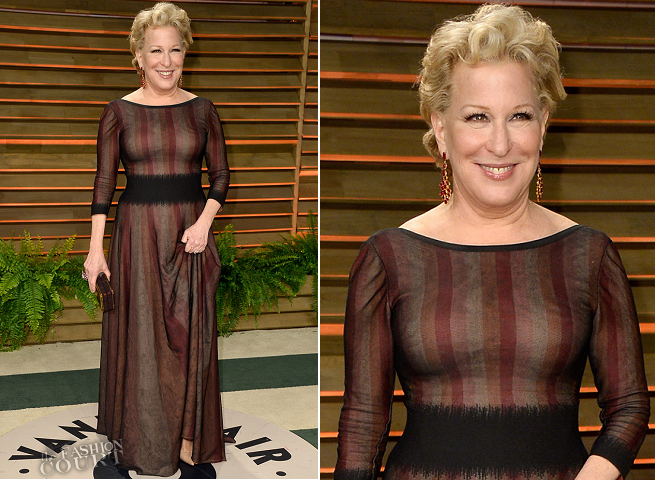 Bette Midler in Azzedine Alaïa | 2014 Vanity Fair Oscar Party