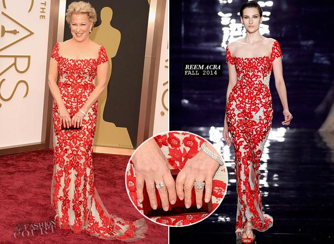 Bette Midler in Reem Acra | 2014 Oscars