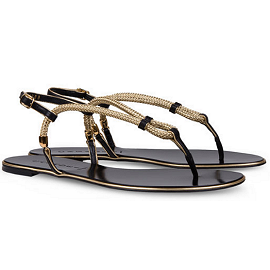 Casadei Sailor Evening Flat Sandal