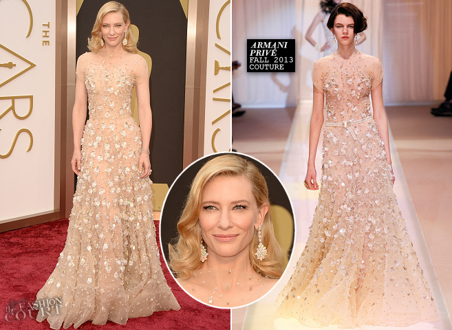 Cate Blanchett in Armani Privé | 2014 Oscars