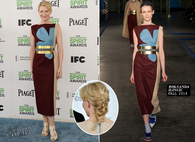 Cate Blanchett in Roksanda Ilincic | 2014 Film Independent Spirit Awards