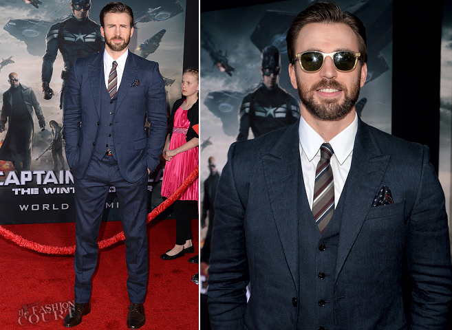 Chris Evans in Gucci | 'Captain America: The Winter Soldier' Hollywood Premiere