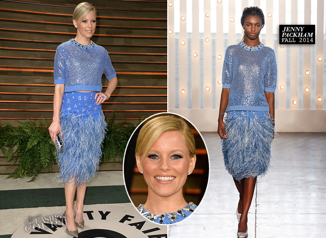 Elizabeth Banks in Jenny Packham | 2014 Vanity Fair Oscar Party