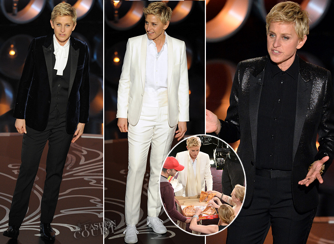 Ellen Degeneres in Saint Laurent | 2014 Oscars