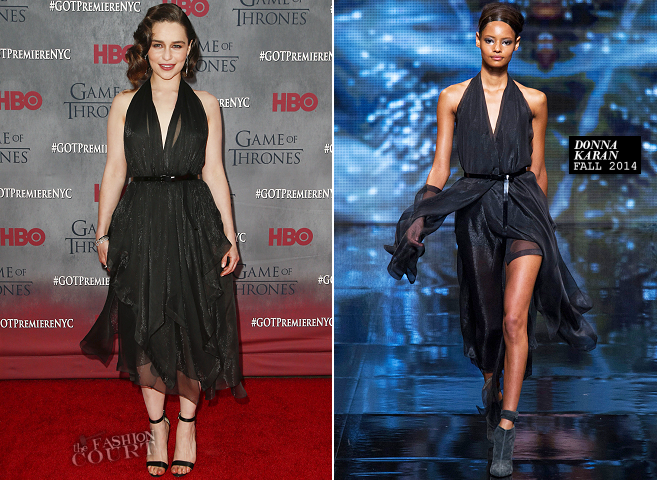 Emilia Clarke in Donna Karan | 'Game of Thrones' Season 4 NYC Premiere