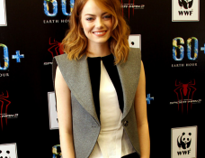Emma Stone in Balenciaga | Earth Hour Kick-Off with Spider-Man