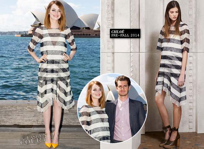 Emma Stone in Chloé | 'The Amazing Spider-Man 2: Rise Of Electro' Sydney Photocall