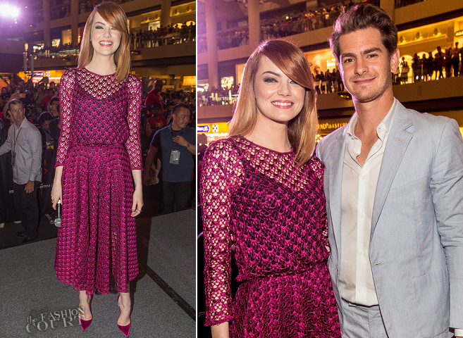 Emma Stone in Dior | 'The Amazing Spider-Man 2: Rise Of Electro' Singapore Fan Event