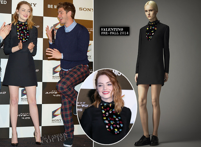 Emma Stone in Valentino | 'The Amazing Spider-Man 2: Rise Of Electro' Tokyo Press Conference