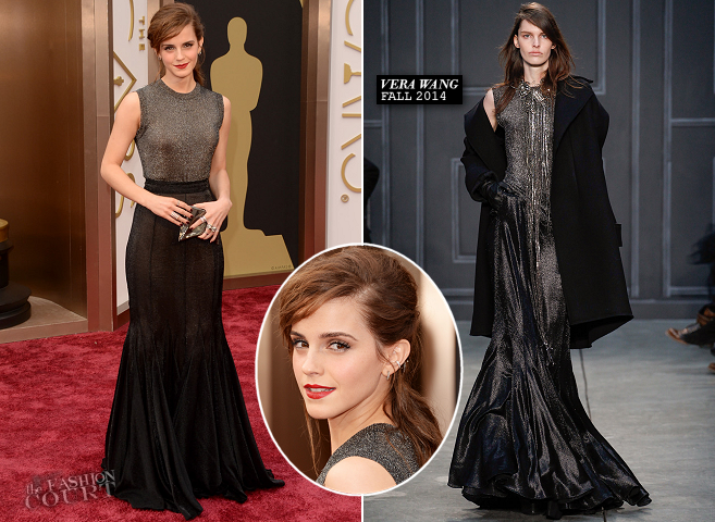 Emma Watson in Vera Wang | 2014 Oscars