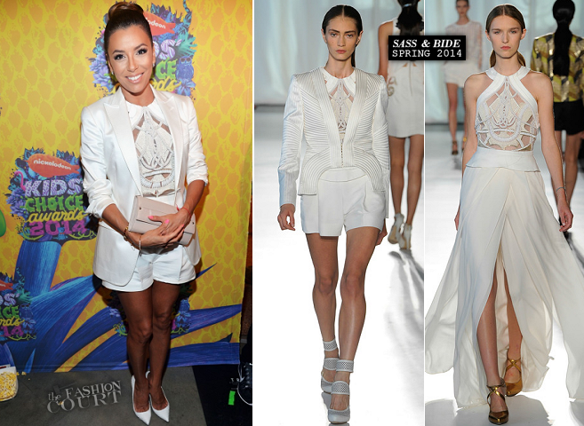 Eva Longoria in Sass & Bide | 2014 Kids' Choice Awards
