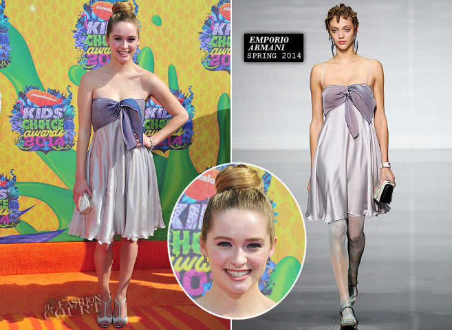 Greer Grammer in Emporio Armani | 2014 Kids' Choice Awards