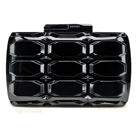 Gucci Aristographic Plexiglass Evening Clutch