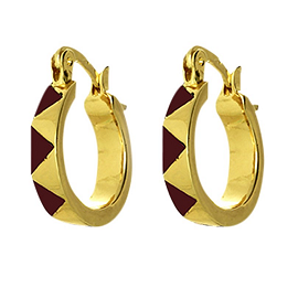 House of Harlow 1960 Enamel Huggie Earrings