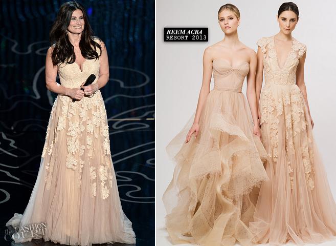 Idina Menzel in Reem Acra | 2014 Oscars