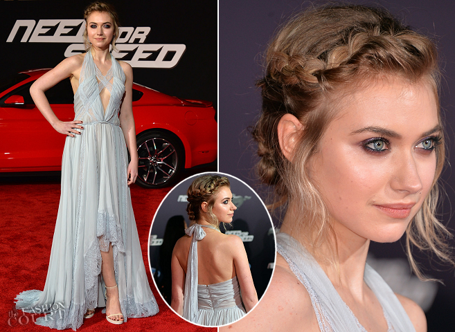Imogen Poots in Nina Ricci | 'Need for Speed' Hollywood Premiere