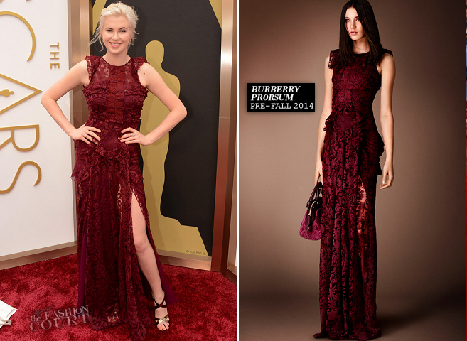 Ireland Baldwin in Burberry Prorsum | 2014 Oscars