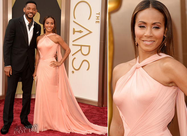 Jada Pinkett Smith in Atelier Versace & Will Smith in Berluti | 2014 Oscars