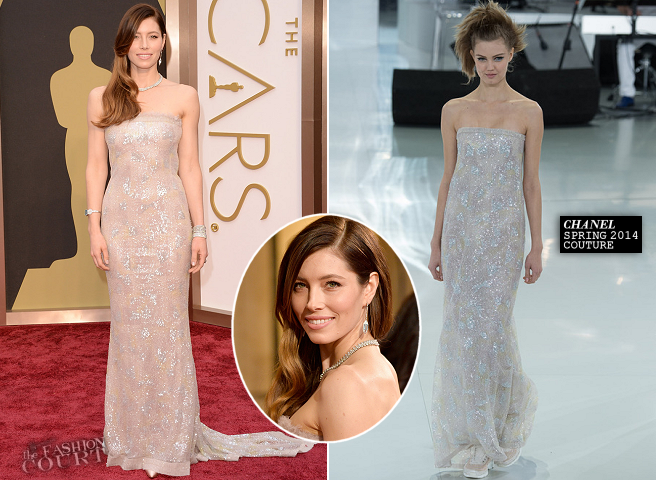 Jessica Biel in Chanel Couture | 2014 Oscars