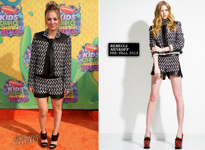 Kaley Cuoco Sweeting in Rebecca Minkoff | 2014 Kids' Choice Awards