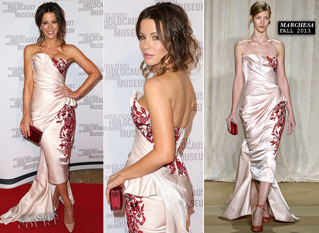 Kate Beckinsale in Marchesa | 2014 Los Angeles Dinner: What You Do Matters