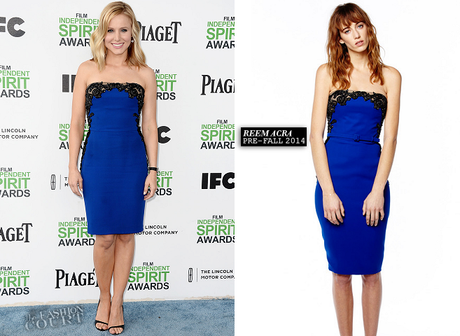 Kristen Bell in Reem Acra | 2014 Film Independent Spirit Awards