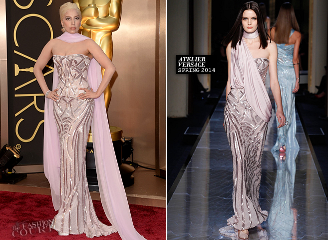 Lady Gaga in Atelier Versace | 2014 Oscars