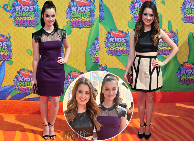 Laura Marano in Robert Rodriguez & Vanessa Marano in Black Halo | 2014 Kids' Choice Awards