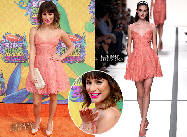 Lea Michele in Elie Saab | 2014 Kids' Choice Awards