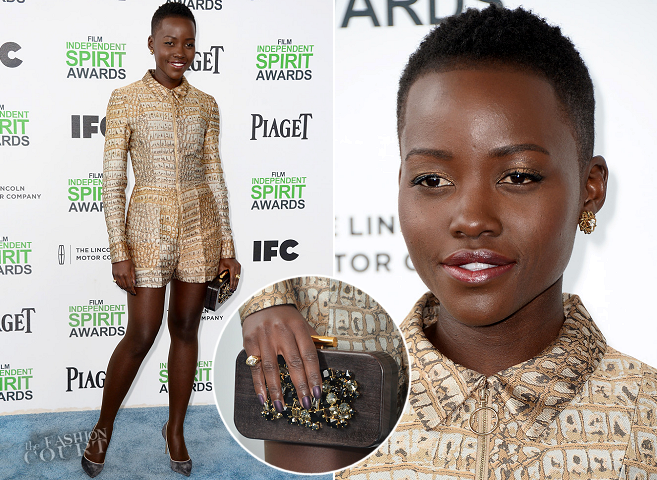Lupita Nyong'o in Stella McCartney | 2014 Film Independent Spirit Awards