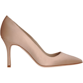 Manolo Blahnik Satin BB Pumps