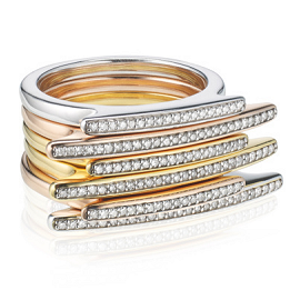 Monica Vinader Diamond Pave Skinny Long Rings