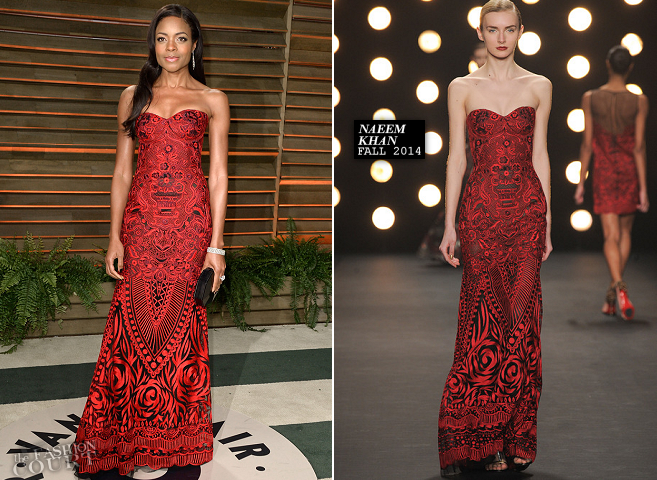 Naomie Harris in Naeem Khan | 2014 Vanity Fair Oscar Party