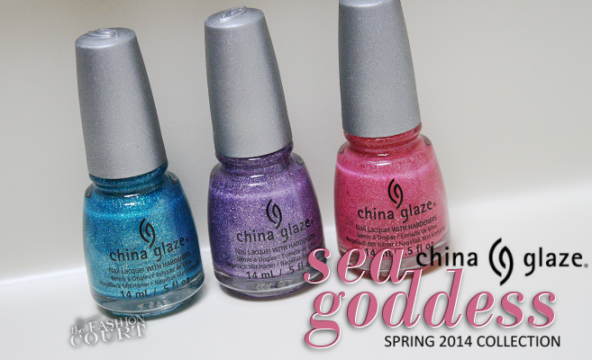 Review: China Glaze Sea Goddess Spring 2014 Collection