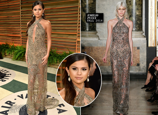 Selena Gomez in Emilio Pucci | 2014 Vanity Fair Oscar Party