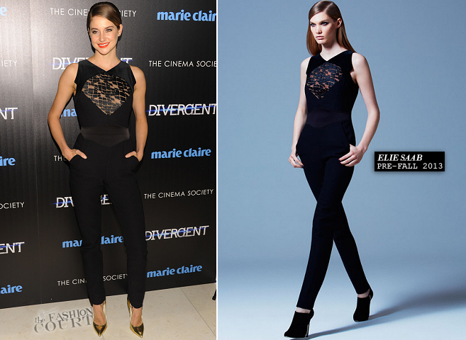 Shailene Woodley in Elie Saab | 'Divergent' NYC Screening