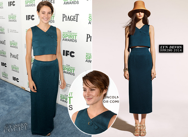 Shailene Woodley in Lyn Devon | 2014 Film Independent Spirit Awards